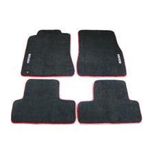Mustang Roush Floor Mats  - Black w/ Red Embroidery (05-09)