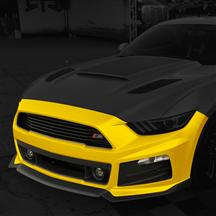 Mustang Roush Complete Front Fascia Kit Triple Yellow (15-17)