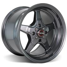 Mustang Race Star Drag Star Wheel - 15x10  - Metallic Gray - Direct Drill (79-93)