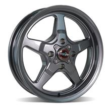 Mustang Race Star Drag Star Wheel - 15x3.75  - Metallic Gray - Direct Drill (79-93)