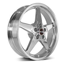 Mustang Race Star Drag Star Wheel - 18x5  - Polished - Direct Drill (05-19)