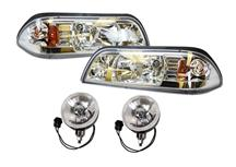 Mustang One Piece Headlight & Fog Light Resto Kit  Ultra Clear (87-93)