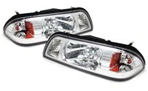 Mustang SVE One Piece Headlight Kit Chrome (87-93)
