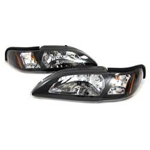 Mustang One Piece Headlight Kit  - Black (94-98)
