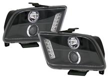 Mustang SVE Ccfl Led Halo Projector Headlight Kit Black (05-09)