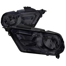Mustang Euro Style Headlights Black (10-12)
