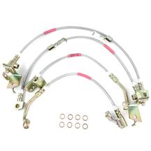 Mustang Steeda Stainless Braded Brake Lines (15-17)
