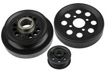 Mustang Steeda Underdrive Pulley Kit Black (96-01) 4.6