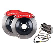 "Mustang StopTech Front Big Brake Kit, 14"" Rotors, 4 Piston Calipers Red (05-14)"