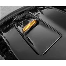 Mustang Starkey Hood Mounted Turn Signal Light Kit  - Amber (15-17)