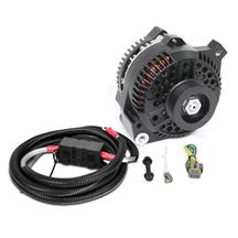 Mustang SVE 130 Amp Alternator Full Upgrade Kit  - Black (86-93) 5.0/5.8