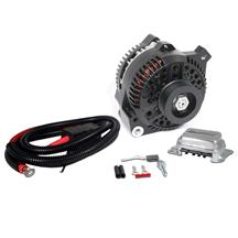 Mustang SVE 130 Amp Alternator Full Upgrade Kit  - Black (79-85) 5.0