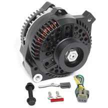 Mustang SVE 130 Amp Alternator Upgrade Kit  - Black (86-93) 5.0