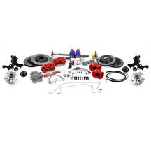 Mustang SVE 5-Lug Conversion Kit - 28 Spline Red (87-92)