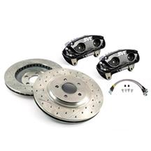 "Mustang SVE 13"" Cobra Style Front Brake Kit w/ C-Tek Rotors Black (94-04)"