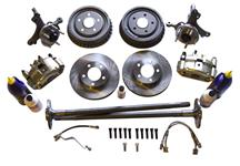 Mustang SVE SN95 5 Lug Brake Conversion Kit W/ Rear Drums (79-93)