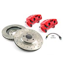 "Mustang SVE 13"" Cobra Style Front Brake Kit w/ C-Tek Rotors Red (94-04)"