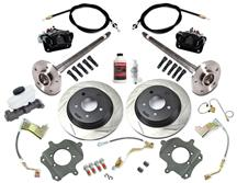 Mustang SVE 5-Lug Rear Disc Only Conversion Kit - 28 Spline Black (87-92)