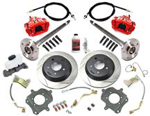 Mustang SVE 5 Lug Rear Disc Only Conversion Kit - 28 Spline Red (87-92)