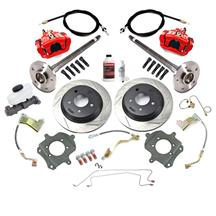 Mustang SVE 5 Lug Rear Disc Only Conversion Kit - 28 Spline Red (87-93)