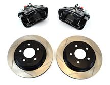 Mustang SVE Cobra Rear Brake Caliper & Rotor Kit Black (94-04)