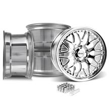 Mustang SVE Series 3 Wheel & Lug Nut Kit - 20x8.5/10 Chrome (15-17)