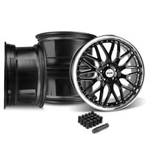 Mustang SVE Series 3 Wheel & Lug Nut Kit - 20x8.5/10 Gloss Black (15-17)