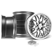 Mustang SVE Series 3 Wheel & Lug Nut Kit - 20x8.5 Gun Metal (15-18)