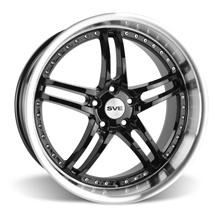 Mustang SVE Series 2 Wheel - 20x10 Black w/ Machined Lip (05-18)