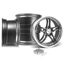Mustang SVE Series 2 Wheel & Lug Nut Kit - 20X8.5/10 Gun Metal w/ Machined Lip (15-18)