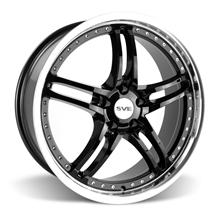 Mustang SVE Series 2 Wheel - 20x8.5 Black w/ Machined Lip (05-17)
