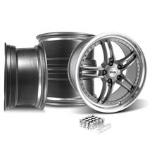 Mustang SVE Series 2 Wheel & Lug Nut Kit - 20x8.5 Gun Metal w/ Machined Lip (05-14)