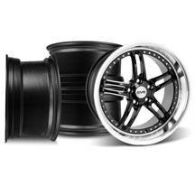 Mustang SVE Series 2 Wheel Kit -18x9/10 Black w/ Machined Lip (94-04)