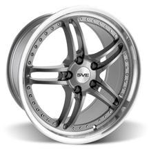 "Mustang SVE Series 2 Wheel - 19x9"" Gun Metal w/ Machined Lip (05-17)"