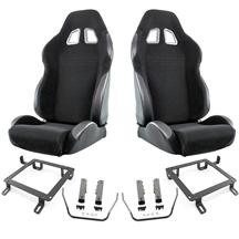 Mustang SVE S2 Racing Seats w/ Non-Assembled Seat Tracks (Pair) (79-04)