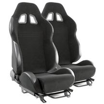 Mustang SVE S2 Racing Seats w/ Assembled Seat Tracks (Pair) (79-04)