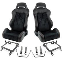Mustang SVE S1 Racing Seats w/ Seat Tracks (Pair) (79-98)