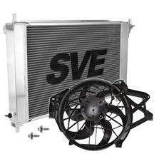 Mustang SVE Aluminum Radiator & Factory Fan Kit (01-04)