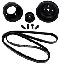 Mustang SVE  Underdrive Pulley & Gatorback Belt Kit  Black (87-93) 5.0
