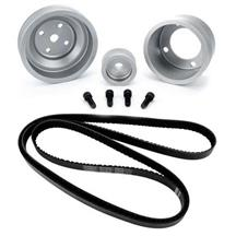 Mustang SVE Underdrive Pulley & Gatorback Belt Kit  Clear Anodized (87-93)