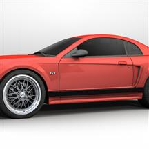 Mustang Rocker Stripes Gloss Black (99-04)