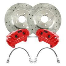 "Mustang SVE 13"" Cobra Style Front Brake Kit w/ C-Tek Rotors  - Red (94-04)"