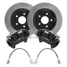 "Mustang SVE 13"" Cobra Style Front Brake Kit w/ Slotted Rotors Black (94-04)"