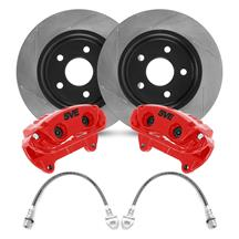 "Mustang SVE 13"" Cobra Style Front Brake Kit w/ Slotted Rotors  - Red (94-04)"