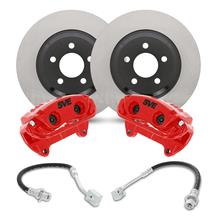 "Mustang SVE 13"" Cobra Style Front Brake Kit w/ Stock Rotors  - Red (94-04)"