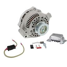 SVE Mustang 130 Amp Alternator 1g to 3g Upgrade  - Satin (79-85) 5.0