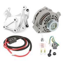 Mustang SVE 130 Amp Alternator & Bracket Full Upgrade Kit (86-93) 5.0/5.8