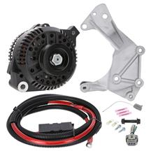SVE Mustang 130 Amp Alternator & Bracket Full Upgrade Kit  - Black (86-93) 5.0/5.8