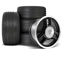 Mustang SVE 1993 Cobra R Style Wheel & Tire Kit - 17x8 - 4 Lug   (79-93)