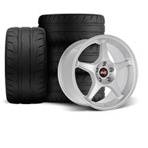 Mustang SVE 2000 Cobra R Style Wheel & Tire Kit - 18x9.5  - Silver (94-04)